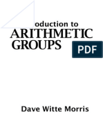 Introduction to Arithmetic Groups by Dave Witte Morris