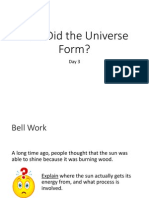 how did the universe form day 3