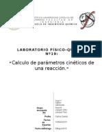 Parametros cineticos de una reaccion