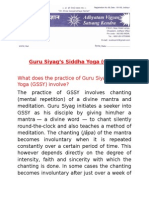 Siddha Yoga Introduction 4 Pages