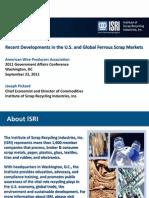 Recent Developments in the u s and Global Ferrous Scrap Markets 2011 ISRI 1