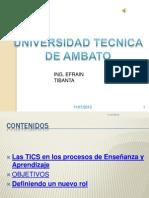 Las TICS en los procesos de Enseñanza y