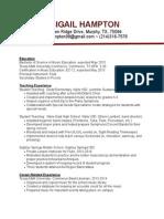 abigail hampton resume