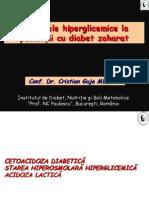 13. Urgente Hiperglicemice in terapia actuala
