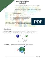 IGCSE Physics - Newton's Laws of motion