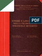 Ser y Lenguaje en La Filosofia de Emanuele Severino
