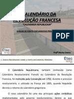 """""""Calendrier Republicain""""_análise de Fontes Documentais Primárias"""