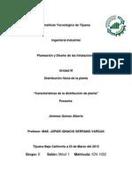 """""""Características de La Distribución de Planta"""""""