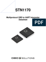 stn1170 chip Multiprotocol OBD to UART Interpreter Datasheet