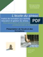 Ecole Du Stress PresentationDesFormations2015