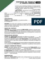 Contrato de Trabajo Parcial129