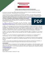 Complaints & Dispute Resolution Procedures.