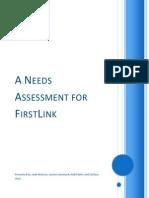 needs assesment - firstlink