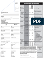 Rebate Table Form Southern