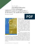 Reseña La Intertextualidad Literario-musical