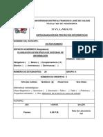 Syllabus Planeación Estratégica de Sistemas de Información - Grupo I