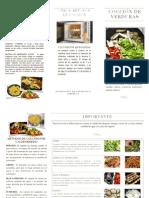 Folleto Métodos de Cocción Verduras