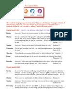 Faith 5 Bible Verses for April 2015