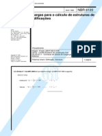 NBR 6120-1980 - Cargas Para o Cálculo de Estruturas de Edificações