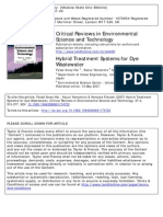 Hybrid Treatment Systems for Dye Wastewater