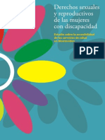 Derechos Sexuales y Reproductivos de Las Mujeres Con Discapa