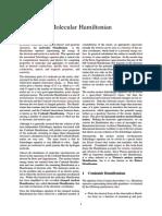 Molecular Hamiltonian