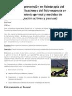 Medidas de Prevención en Fisioterapia Del Deporte I