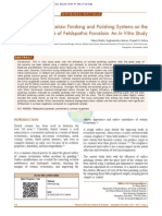 The Effects of Porcelain Finishing and Polishing Systems on the Surface Roughness of Feldspathic Porcelain