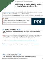 Take Ownership of a File, Folder, Drive, Or Registry Key in Windows 8