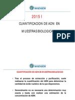 Cuantificacion ADN 15 I
