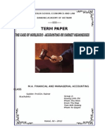 Term Paper Corporate Finance - Worldcom Case - Group Leader Doan Thu Nga