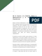 De la Cueva a la Cabaña. Sobre lo Estereotómico y lo Tectónico en Arquitectura.pdf