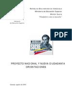 Texto de Proyecto Nacional[1]