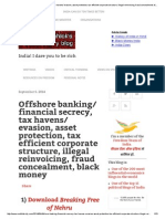 Offshore banking_ financial secrecy, tax havens_ evasion, asset protection, tax efficient corporate structure, illegal reinvoicing, fraud concealment, black money _ Sanjeev Sabhlok's revolutionary blog.pdf