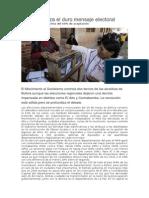 El Movimiento al Socialismo controla dos tercios de las alcaldías de Bolivia aunque las elecciones regionales dejaron una derrota impensada en distritos como El Alto y Cochabamba. La revolución está sólida pero se profundiza el debate