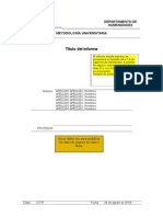 Esquema de Informe Descriptivo METUNI