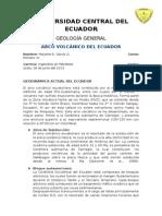 Volcanismo en El Ecuador