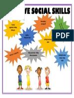 negative social skills poster