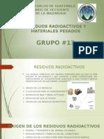 Residuos radioactivos y materiales pesados.pptx