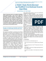 Short term Multi Chain Hydrothermal Scheduling Using Modified Gravitational Search Algorithm