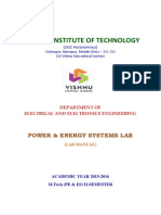 Powe and Energy Lab Manual - M.tech (PEES)-II Sem Lab