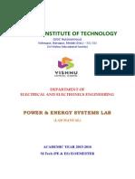 Powe and Energy Lab Manual - M.tech (PEES)-II Sem Lab