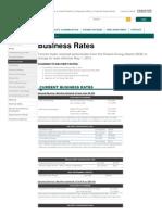 Toronto Hydro Business May 2015 Tariffs