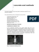 Hardened Concrete and Methods of Testing Nhanga
