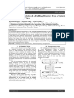 Vibration Characteristics of a Building Structure from a Natural Frequency Point of View