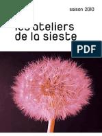 Flyer Les Ateliers de La Sieste