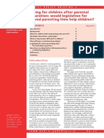 Would Legislation for Shared Parenting Time Help Children)OXLAP FPB 7