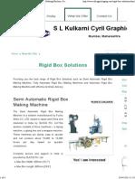 Rigid Box Solutions - Semi Automatic Rigid Box Making Machine, Fully Automatic Rigid Box Making Machines and Automatic Rigid Bo