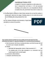 Computer Project Problem 2015