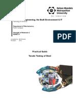MSM2111 Tensile Test Prac Guide 2012